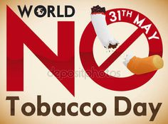 Forbidden Signal over Cigarette for Awareness in No Tobacco Day