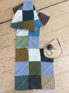 Knitting Ravelry: End-less Squares Blanket pattern by Simone Kereit Big Knit Blanket, Square Blanket, Knitted Blankets, Knit Blanket Squares, Knitted Shawls, Baby Blankets, Knitting Squares, Baby Knitting Patterns, Knitting Designs