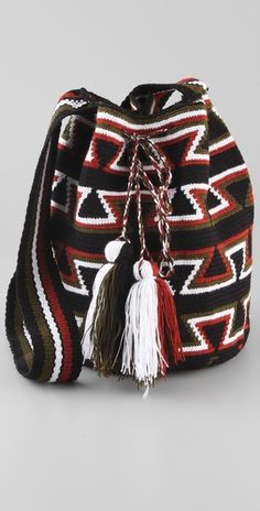 Wayuu Taya Foundation  Susu Bag  Style #:WAYUU40007  $175.00  $87.50 (50% off): Brown/Red, Black/Red, Brown/Tan