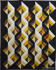Last weekend at Quilt Retreat Sherry and I were experimenting with Bonnie Hunter's Strip Twist to see if we could make a quilt that she envisioned making for her son. Somehow we couldn'…