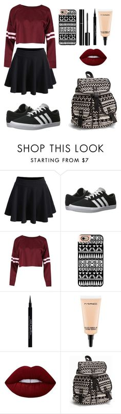 """""""Pretty Outfit"""" by cassi-manzanares ❤ liked on Polyvore featuring WithChic, adidas, Casetify, Chanel, Givenchy, MAC Cosmetics, Lime Crime, NLY Accessories, WishList and LoveIt"""