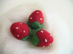 needle felt Strawberries