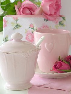 with a pink tea date every month...