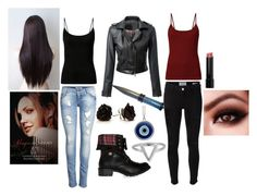 """""""Rose Hathaway (Vampire Academy)"""" by fluffykitten37 ❤ liked on Polyvore featuring Frame Denim, ONLY, Nook, ChloBo, DailyLook and Bobbi Brown Cosmetics"""