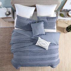 Comforters & Comforter Sets You'll Love in 2021 | Wayfair Denim Comforter, Bedroom Comforter Sets, King Size Comforter Sets, King Comforter, Blue Master Bedroom, Bedroom Size, Master Bath, Country Bedding Sets, Denim Decor