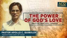 ACQ Classics: The Power of God's Love by Pastor Apollo C. Spiritual Enlightenment, Spirituality, Where Is Your Heart, Kingdom Of Heaven, Fathers Love, Son Of God, Praise And Worship, Apollo, Gods Love