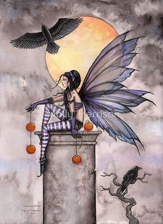 Fairy Art by Molly Harrison - Autumn Raven