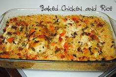 Durfee Family Recipes: Baked Chicken and Rice