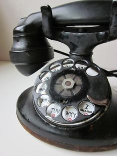 Black Antique Telephone - I remember having one like this. Does that make me an antique too? ;-)