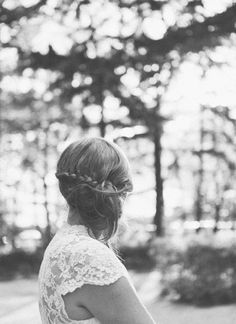 wedding photography brides hair