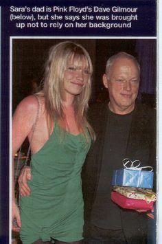 David Gilmour & his daughter Sara Gilmour