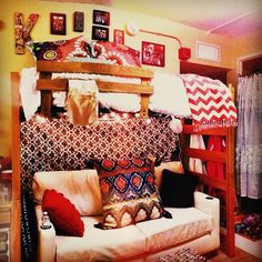 Thinking of doing this in teen's room... Love seat could be a pull out sleeper for sleepovers!