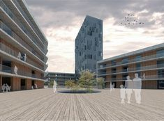 Image 15 of 16 from gallery of Social Housing in Milan / StudioWOK. Courtesy of StudioWOK Co Housing, Social Housing, Archdaily Mexico, Sustainable City, Architecture Graphics, Concept Diagram, Affordable Housing, Master Plan, Wok