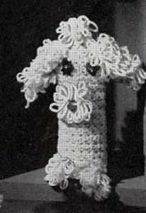 NEW! Shaggy Dog Bottle Cover Up crochet pattern from Knit & Crochet with Heavy Rug Yarn, Star Book No. 191.
