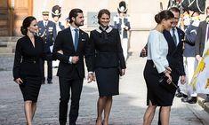 Princess Sofia, Prince Carl Philip, Princess Madeleine, Crown Princess Victoria and Prince Daniel at the opening of Parliament in 2016.