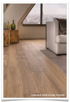 Wide plank matte finish flooring