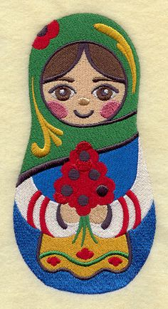 Matryoshka Doll Embroidered Flour Sack Hand Towel by EmbroideryEverywhere on Etsy https://www.etsy.com/listing/75952528/matryoshka-doll-embroidered-flour-sack