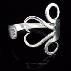 Recycled Silver Fork Bracelet in Original Heart by MarchelloArt, $29.99