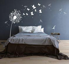 100% Rauhfaser tauglich   Hauchen sie ihren Wänden Leben ein...mit diesem Wandtattoo Pusteblume Schmetterlinge und Punkten verzaubern sie ganze Räume...  *Wandtattoo Pusteblume mit süßen...