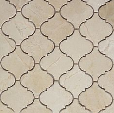 Crema Marfil Honed Arabesque Baroque Marble Mosaic 16.95 the builder depot
