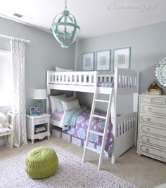 blue and lavender girls room