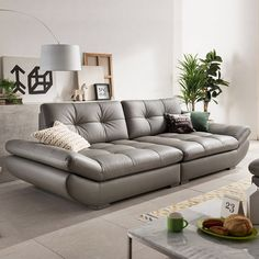 genuine leather sofa sectional living room sofa corner home furniture couch 4-seater functional backrest modern style //Price: $US $999.00 & FREE Shipping // Genuine Leather Sofa, Modern Leather Sofa, Leather Sofa Set, Modern Couch, Modern Living, Leather Sectional, Modern Sectional, White Leather, Family Room Furniture