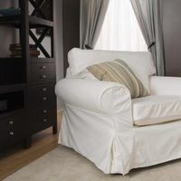 Slipcovers are a quick and inexpensive way to cover damaged, stained or outdated upholstery. Most of the expense in slipcovers is centered in the fabric. If you are covering a larger sofa, you may use six or eight yards of fabric and that quickly adds up. The best way to save is to look for fabric remnants, flat sheets on sale, or thrift store...