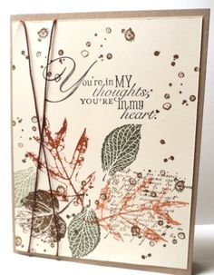 FRENCH FOLIAGE Thoughts or Sympathy Card Kit made with Stampin Up products