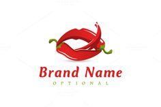 Ideas Fruit Logo Design Food For 2019 Restaurant Logo Design, Food Logo Design, Logo Food, Logo Design Template, Sauce Restaurant, Branding Design, Fruit Quotes, Lip Logo, Lip Wallpaper