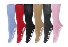 Gilbin Diabetic Non Skid Hospital Slipper Socks,size Pairs: COTTON Rubber Non Skid Gripper Bottom Sock size fits Women's shoe size Tube like sock, Length of sock is Unstretched Machine Wash Warm, Tumble Dry Medium Medical Socks, Plus Dresses, Slipper Socks, Fashion Socks, Women's Socks & Hosiery, Cool Items, Womens Slippers, Diabetes, Fit Women