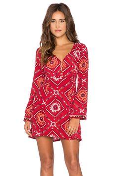 Tigerlily Turkmen Gypsy Dress in Crimson