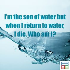 I am too cool. I am ICE. :) #Riddles #Kids #Knowledge #Brain