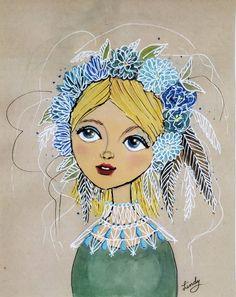 Flower Canvas, Star Art, Print Artist, Floral Flowers, Colorful Decor, Flower Crown, Flower Prints, Lovers Art, Great Artists