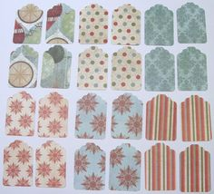 CHRISTMAS Gift Tags & String Wrap Party by TheScrappyKat on Etsy, $1.75