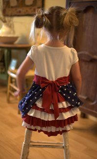 Lookie what she made: 4th of July ruffle bustle dress · Sewing | CraftGossip.com