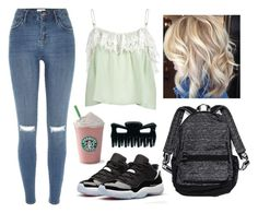"""""""School Girl"""" by marsophie ❤ liked on Polyvore featuring River Island, Retrò, Victoria's Secret and ODYLYNE"""