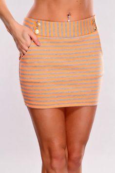 #Amiclubwear              #Skirt                    #Orange #Grey #Striped #Mini #Skirt                 Orange Grey Striped Mini Skirt                                                http://www.seapai.com/product.aspx?PID=1725121
