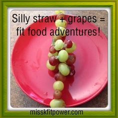 Make eating grapes fun by serving them on a silly straw!