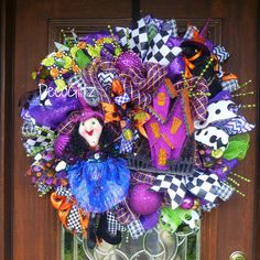WITCH and HER HOUSE Halloween Wreath by decoglitz on Etsy