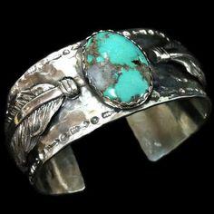 Turquoise Cuff Bracelet by Richard Schmidt WANT WANT WANT!
