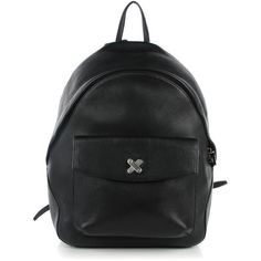ALEXANDER WANG Pebbled Calfskin Icon Backpack Black ❤ liked on Polyvore featuring bags, backpacks, alexander wang bag, calfskin bag, rucksack bags, pebbled-leather bags and alexander wang backpack