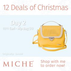 Day 2 of the Miche 12 Deals of Christmas Sale - Cori Hip bag for only $12! #handbags #christmasgifts