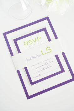 Modern Luxe Wedding Invitation Design