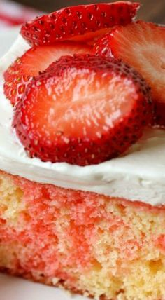Strawberry Shortcake Poke Cake