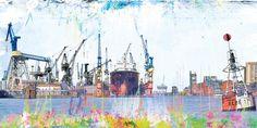 Den Hamburger Hafen auch mal etwas anders zeigen. Ausgewählte Motive für hochwertige Kunstdrucke beim bilderwerk Hamburg. Cap San Diego, Hummel Hummel Mors Mors, Hamburger, Painting, Art, Watercolor Painting, Paint, Photo Art, Art Prints