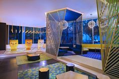 whotels:  W MEXICO CITY.  The newly designed Living Room space...