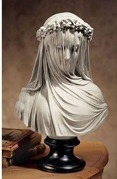 Museum Replica Italian Bride Maiden Statue Sculpture Bust Inspired By Artist Raphael Monti Legos, Sculpture Art, Sculptures, Bride Veil, Stone Statues, Draped Fabric, Italian Artist, Wedding Veils, Wedding Reception