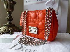 Dior Miss Dior New Lock (small) in Orange Lambskin - SOLD b8abccb9fc7a2