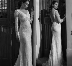 Casual Wedding Dresses 2015 Muslim Wedding Dresses With Long Sleeves By Riki Dalal Sheer V Neck Sequins Lace Bridal Gowns With Backless And Sweep Train Sexy Wedding Dress From Nicedressonline, $356.03| Dhgate.Com