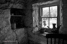 'Winter Light - Irish Cottage Interior, County Down' Poster by Laura Butler